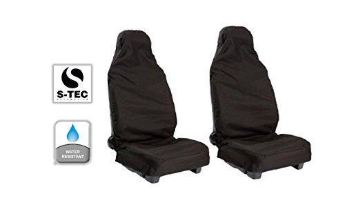 A8Saloon 03–11–Heavy Duty resistente al agua asiento delantero cubre Protectores de/1+ 1(Negro)