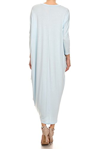 Made Sleeve S in Cover Long Maxi Solid Light Ami USA Dress 12 Up Blue 2X q8RBvc