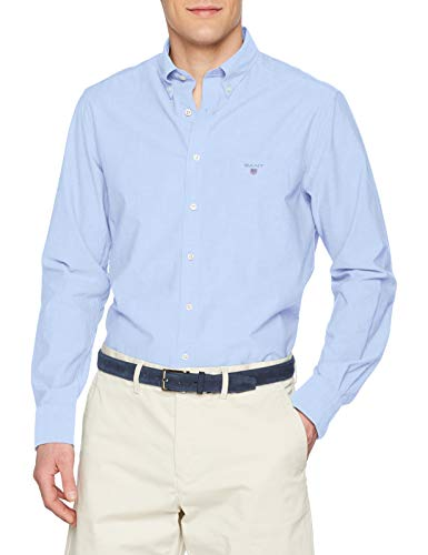 Blu Camicia Bd The Blue Gant hamptons Reg 420 Uomo Broadcloth Y1wnUP