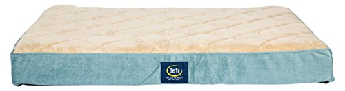 Serta Orthopedic Quilted Pillowtop Dog Bed, Large, Blue
