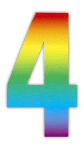 Wheelie bin numbers Rainbow 4 by Wheelie Bin numbers