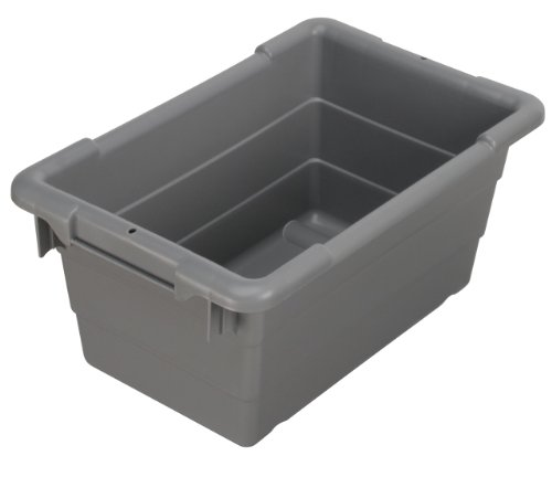 Akro-Mils 34301 Cross-Stack Plastic Tote Tub, 17-Inch by 11-Inch by 8-Inch, Case of 6, Grey