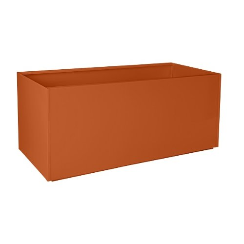 Nice Planter Aluminum Trough Planter, 20'' x 46'', Orange by Nice Planter