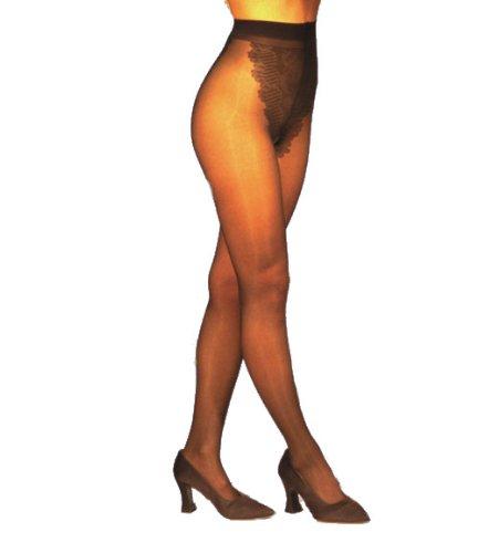 Gabrialla Diplômé collants de compression, Bikini Top en dentelle, Sheer (18-20 mmHg), Petite, Nude