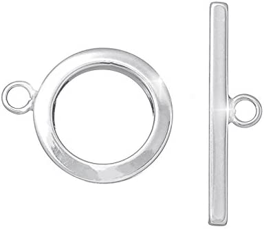 Hook /& Eye Toggle Clasps Antique Silver Metal Alloy 16x38mm  5 Pcs DIY Jewellery
