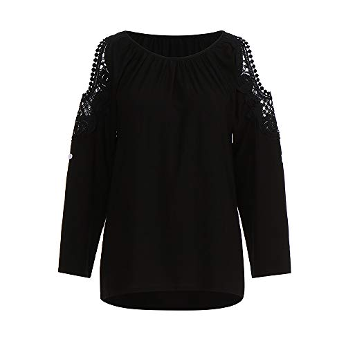 Haut 1 Vrac Femmes Top Dcontracte Automne Manches T Blouse Longue Vetements Shirt Chemise OVERMAL Noir et en Chic Sexy t Mode Sweatshirts vgq6w55