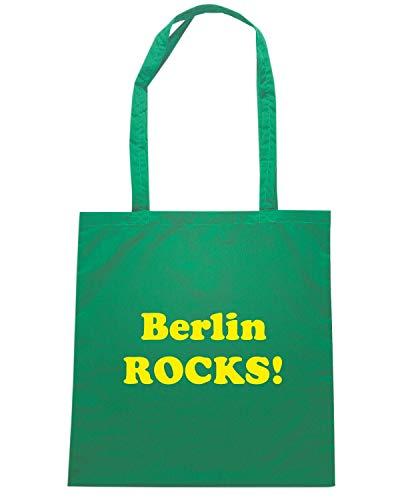 Speed Shirt Borsa Shopper Verde OLDENG00827 BERLIN ROCKS