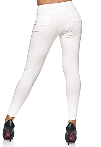Con Hosen Pantaloni Da Jeggings Rivetti Arizonashopping Treggings Crema Jeans Donna D2123 wCIOq5p7