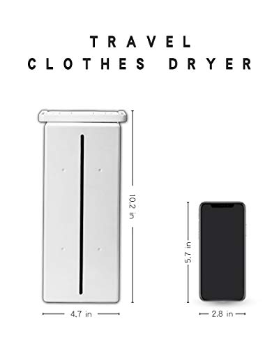 Kasydoff Portable Clothes Dryer Personal Electric Laundry Drying Rack 33 LB Capacity Folding Clothes Dryers for Apartment Energy Saving Clothing Dryers Digital Automatic Timer for Travel