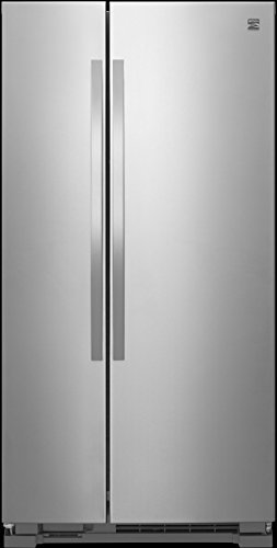 Kenmore 41133 21 cu. ft. Side-by-Side Refrigerator, Stainless Steel