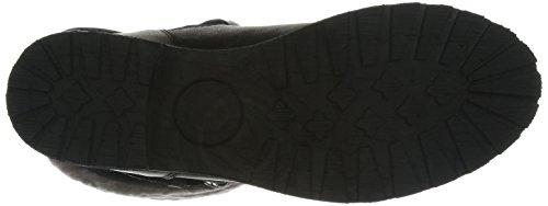 Panama Jack Singapur Igloo  Damen Warm gefüttert Biker Boots Halbschaft Stiefel & Stiefeletten Schwarz (Black B1)