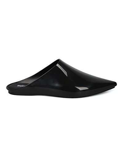 Melissa Donna Slip On In Mulo - Punta Appuntita Mule - Casual Dressy Versatile Sofisticato Alla Moda Mulo Slide - Lei By Collection Black