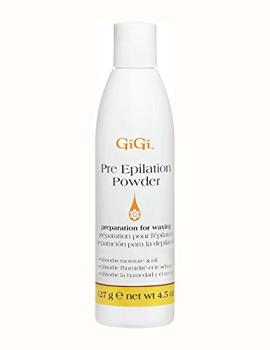GiGi Pre Epilation Dusting Powder, 4.5 Ounce (Absorbing Hair Powder Oil)