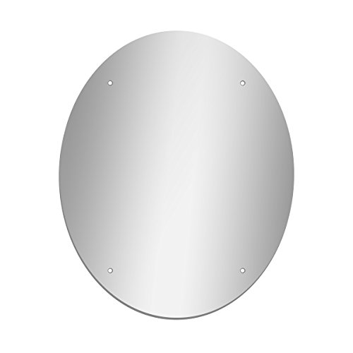 GLOSSY GALLERY Oval Shatterproof Acrylic Safety Mirror With Screw Mount Set - 18in x 22in
