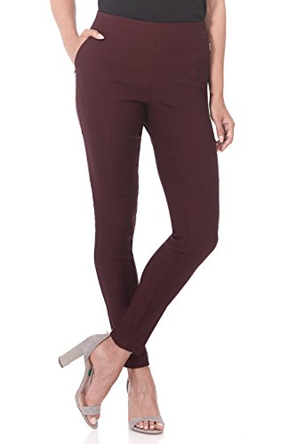 Rekucci Women's Ease in to Comfort Modern Stretch Skinny Pant w/Tummy Control (4,Brick) ()