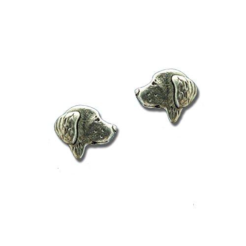 Pewter Golden Retriever Post Earrings