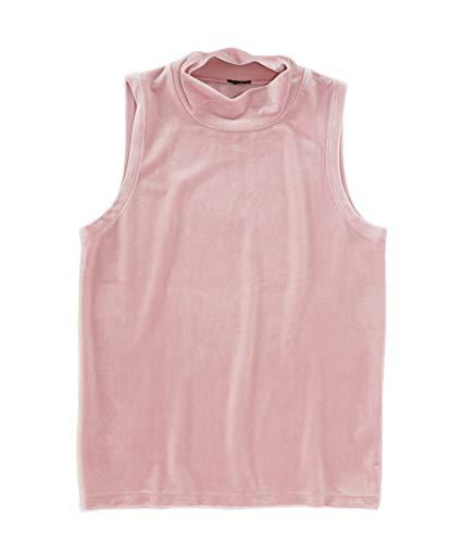 J.Crew Women's Velvet Mock Neck Shell Tank (Large, Pink)