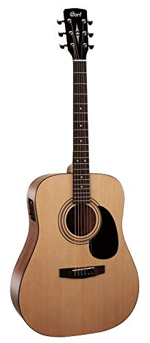 Cort 6 String Acoustic-Electric Guitar, Right Handed, Open Pore Natural (AD810E OP)