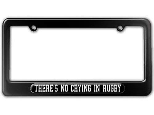 DIY LiEN There's No Crying in Rugby License Plate Frame Novelty Auto Car Tag Vanity Gift for Law Enforcement