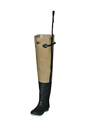 Pro Line Men's Canvas Hickory Creek Hip Wader Boots, Tan, 9