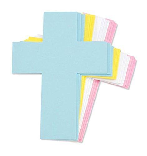 Foam Cross Shapes - Pastel Colors - 24 Pieces