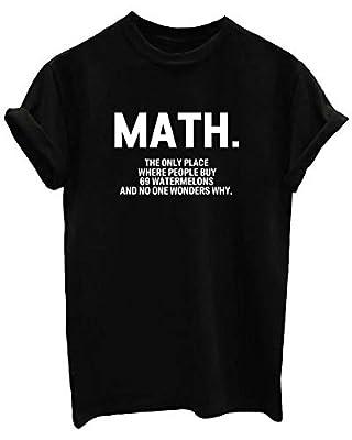 BLACKMYTH Women Graphic Funny T Shirt Cute Tops Teen Girl Tees