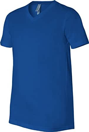 Bella 3005 Unisex Jersey Short Sleeve V-Neck Tee - True Royal, Extra Small