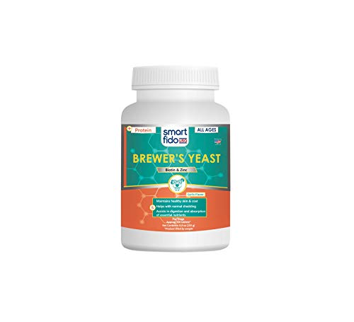 (Smart Fido Smartfido Brewers Yeast Daily 500 Ct Tablets for Dogs with Garlic Zinc & Biotin, Supports Healthy Skin & Silky-Smooth Coat at All Ages)