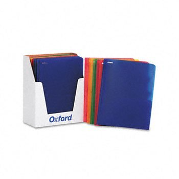 Oxford® Translucent Twin-Pocket Portfolio with Tang Fasteners PORTFOLIO,2 PKT,FAST,AST (Pack of2) (Poly Portfolio Pocket Twin)