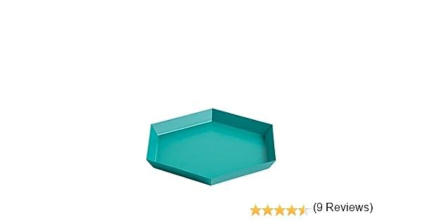HAY 503936 Bandeja, acero, Color verde esmeralda con revestimiento ...