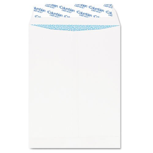 Grip Envelopes Catalog Seal - Columbian - Grip-Seal Security Tinted Catalog Envelopes, 10 x 13, 28lb, White Wove, 100/Box CO929 (DMi BX