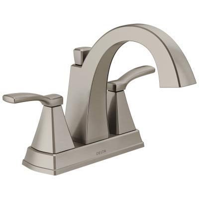 (Delta Faucet 25768LF-SS Flynn Two-Handle Center set Bathroom Faucet, Brushed)