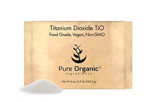 Titanium Dioxide TiO2 (8 oz.) by Pure Organic Ingredients, Eco-Friendly Packaging, Non-Nano, Food & USP Grade, Vegan, Non-GMO
