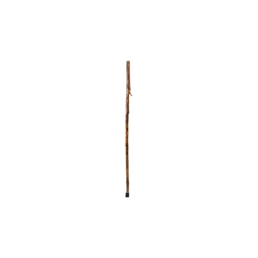 Brazos Free Form Hickory Handcrafted Wood Walking Stick Trekking Pole