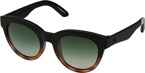 TOMS Unisex Florentin Matte Black/Honey Tortoise Fade Polar - Sunglasses Polar