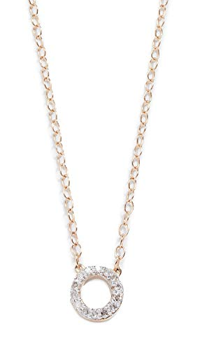 MATEO 14k Gold Mini Diamond Circle Chain Necklace