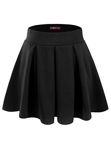 Doublju Women Fasionable Waistband Short Skirt DARKGRAY,M - Bras N Skirt