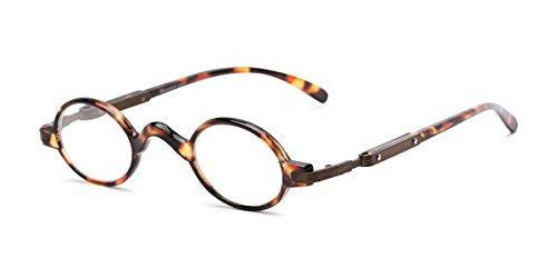 Readers.com   The Sterling +2.50 Tortoise/Bronze Round Stylish Men's & Women's Half - Lens Bronze Brown Frame Tortoise