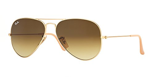 Ray-Ban 3025 Aviator RB 3025 112/85 55mm Matte Gold Frame / Brown Gradient Small by Ray-Ban