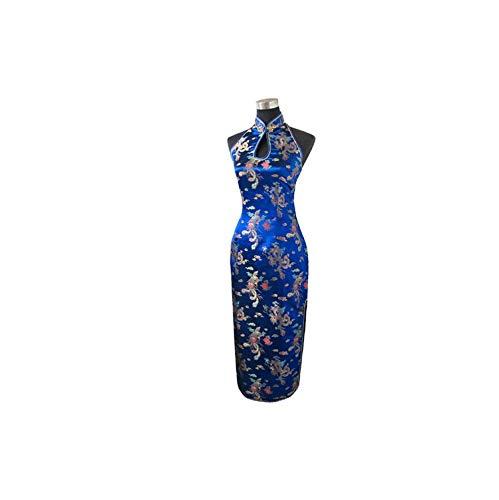 Traditional Chinese Dress Long Halter Cheongsam Qipao