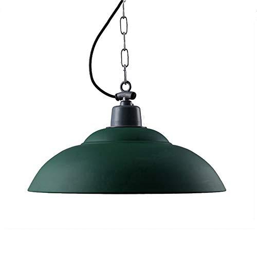 - Tlinksy American Country Chandelier Bar Restaurant Cafe Loft Industrial Wind Green Iron Pot Cover Single Head Pendant Light