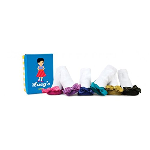 Trumpette 6 Pairs Of Lucy's Big Bow Jewel Toned Socks In A Gift Box, Assorted, 0-12 -