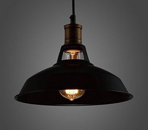Industrial retro vintage black pendant lamp kitchen bar amazon co uk lighting