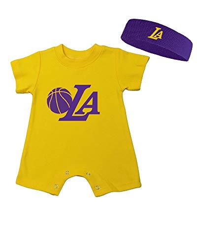 Baby Romper & Headband Set - LA (12-18m, Yellow)
