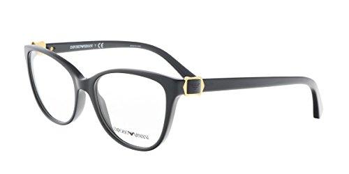 Armani EA3077 Eyeglass Frames 5017-52 - - Round Armani Eyeglasses