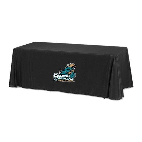 Coastal Carolina Black 8 foot Table Throw 'Official Logo' by CollegeFanGear