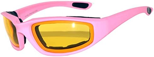Men Women Padded Foam Motorcycle Riding Glasses Goggles 99/% UV protection