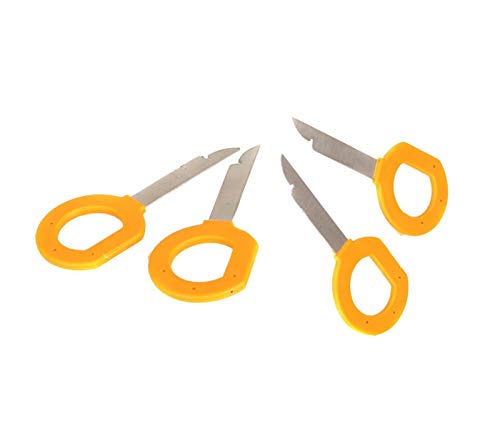 (Ketofa Radio Stereo Removal Tool Keys Set for Audi Volkswagen Mercedes, Car CD DVD Host Key Disassembly Tool)