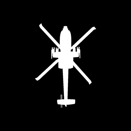 Apache AH-64 Helicopter Vinyl Decal Version 3 in - Apache Helicopter Decal