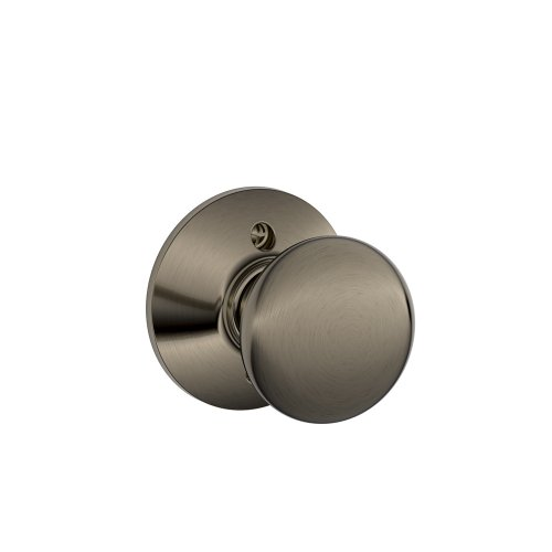 Plymouth Knob Non-Turning Lock, Antique Pewter (F170 PLY 620) ()